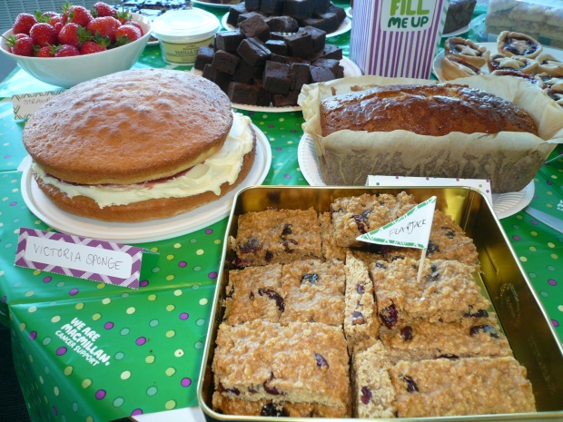 A Victoria Sponge, fruity flapjacks, a lemon drizzle, brownies, strawberries and cream...
