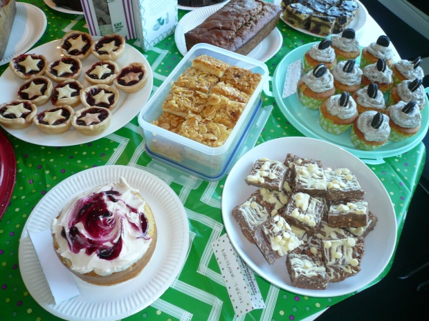Jam tarts, blackberry fool cake, Malteaser tiffin, almond and honey cakes, bara brith, Oreo cupcakes...
